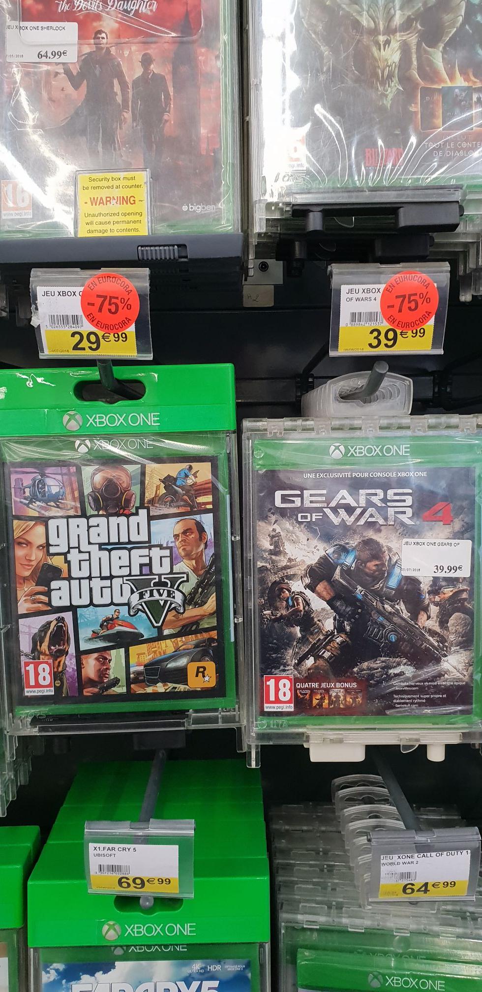 75% de réduction sur la carte fidélité sur une sélection de jeu Xbox One et PS4 - Ex : GTA V sur Xbox One (Massy -91)
