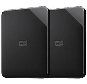 "Lot de 2 Disques Durs Externes 2.5"" WD Elements - 4 To (Frontaliers Suisse)"