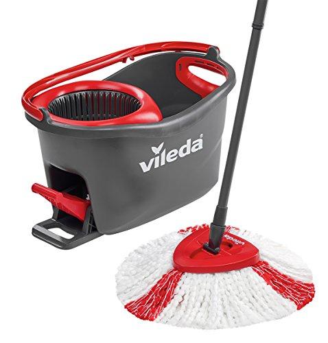Set Balai à Frange + seau à pédale Vileda Easy Wring & Clean Turbo