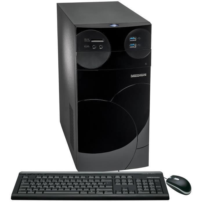 PC de Bureau Medion Akoya P2214D/B318 - Core i3-4160, Mémoire 4Go, Stockage 1To, NVIDIA GTX750 1Go