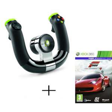 Volant Sans Fil Microsoft Nouvelle Version + Forza Motorsport 4 pour Xbox 360