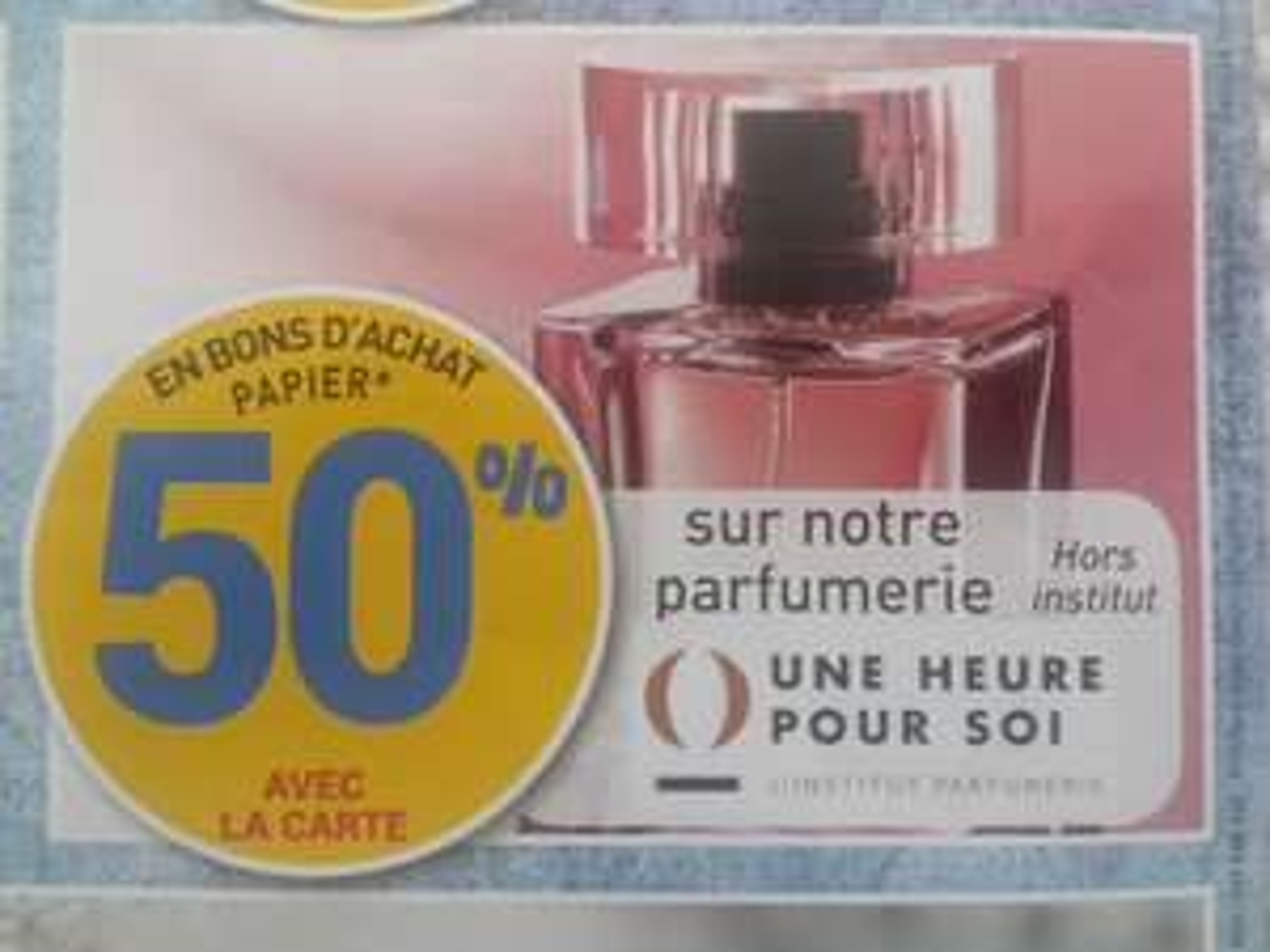 50% de réduction sur la parfumerie (Via bons d 'achat papier avec la carte) - La Seyne sur Mer (83)