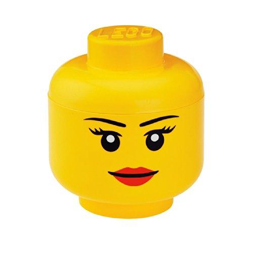Têtes de rangement Lego - Fille - Jaune - 2,0 L - Taille: S