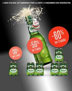 3 packs de bières Grolsch 4x45 cl (shopmium + BDR)