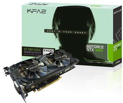 Carte graphique Kfa2 GeForce GTX960 Exoc 2Go + Batman Arkham Knight