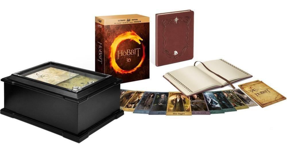 Coffret Blu-ray 3D : Le Hobbit - La trilogie édition limitée 3D - 15 Discs