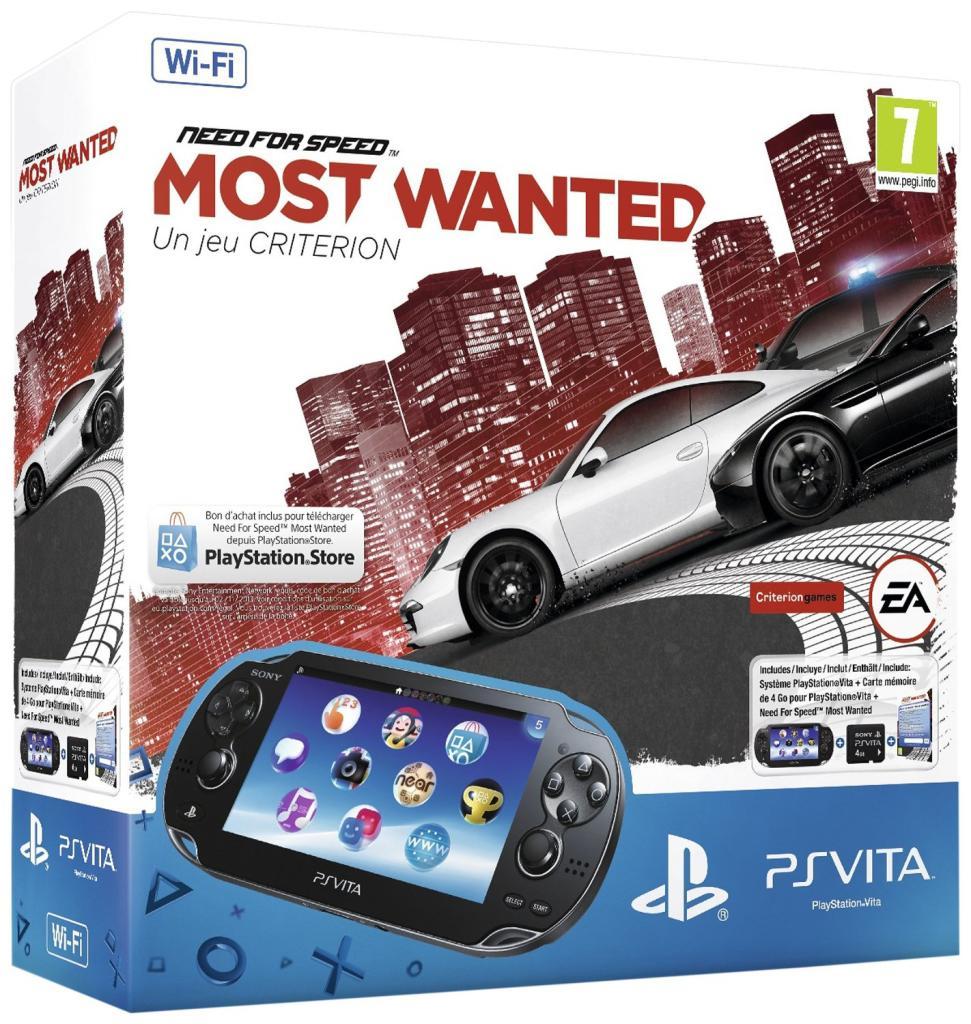Console PS Vita Wi-Fi + Need For Speed Most Wanted (Dématérialisé) + Carte mémoire 4Go