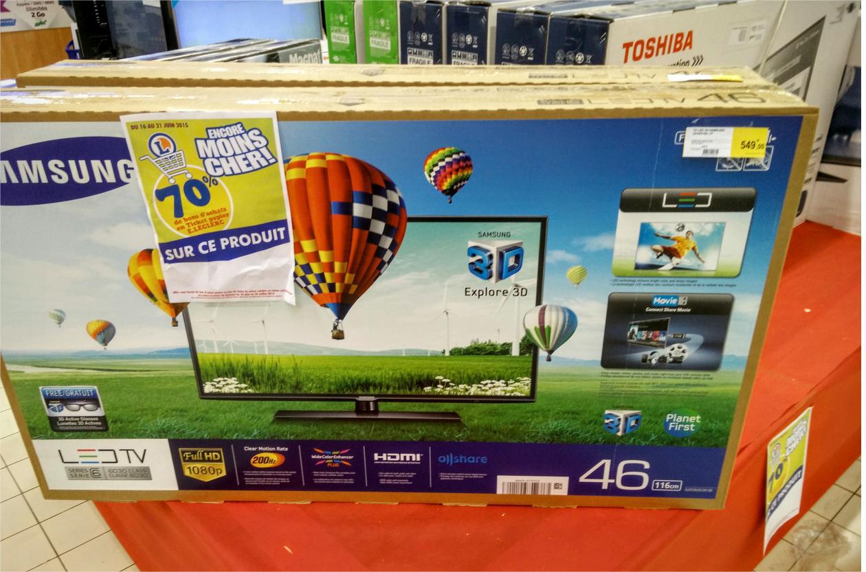 "TV LED 46"" Samsung UE46EH6030 (avec 70% en ticket Leclerc)"
