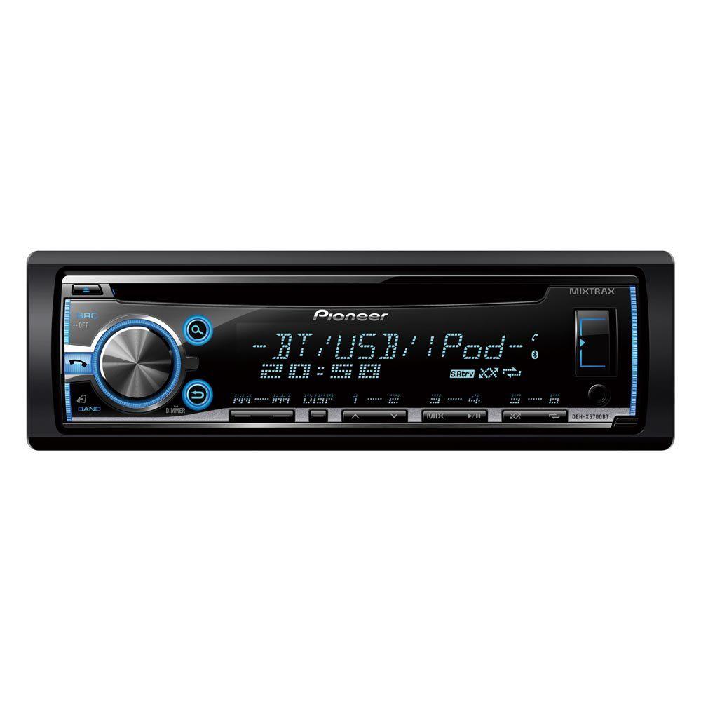 Autoradio avec tuner D4Q, Bluetooth, CD, USB et entrée auxiliaire Pioneer DEH-X5700BT (avec ODR 40€)