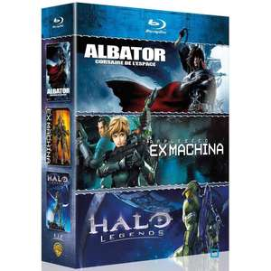 Coffret 3 Films en Blu-ray : Albator, corsaire de l'espace + Halo Legends + Appleseed Ex Machina