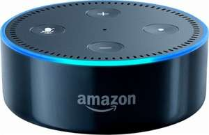 assistant vocal amazon echo dot 2 me g n ration blanc ou noir. Black Bedroom Furniture Sets. Home Design Ideas
