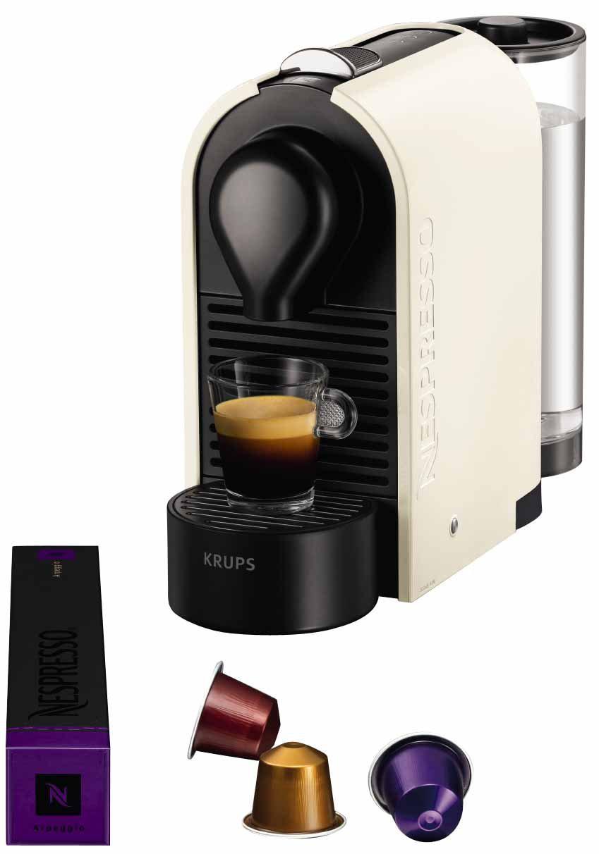 """Machine à café Krups YY1301 Nespresso """"U"""" Crème pur (avec ODR 30€)"""