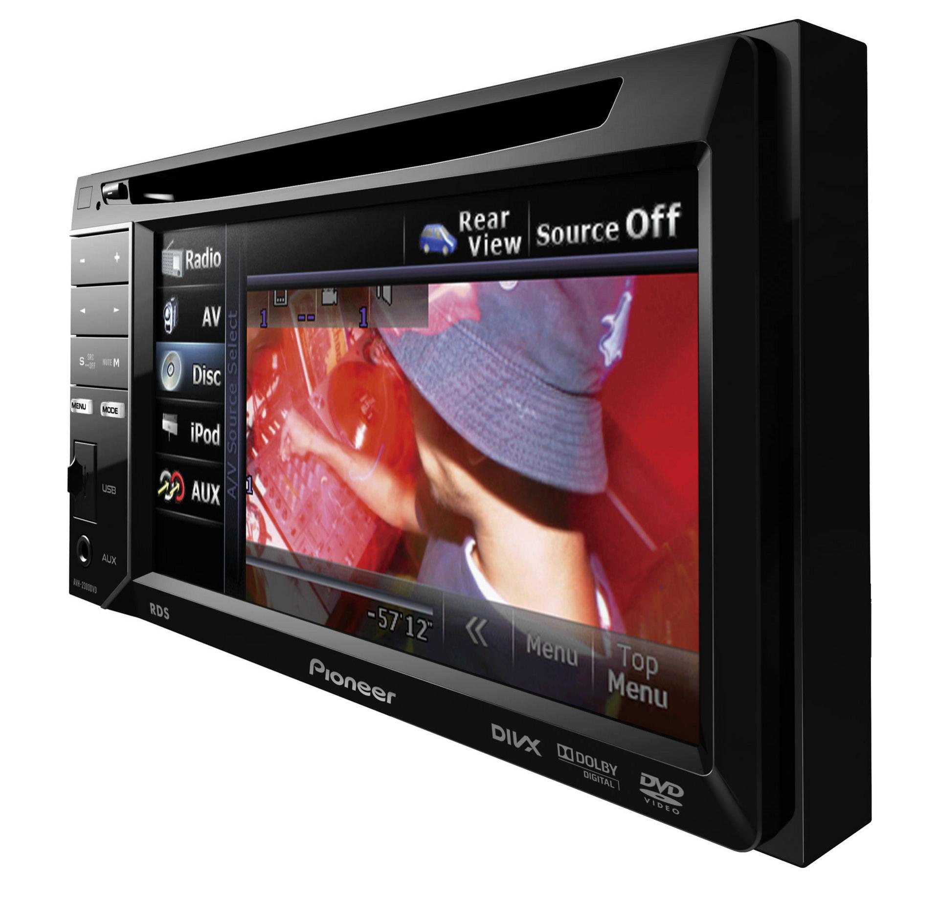 Pioneer AVH-2300DVD - Autoradio Lecteur AV double DIN avec écran tactile 5,8 pouces, contrôle iPod...