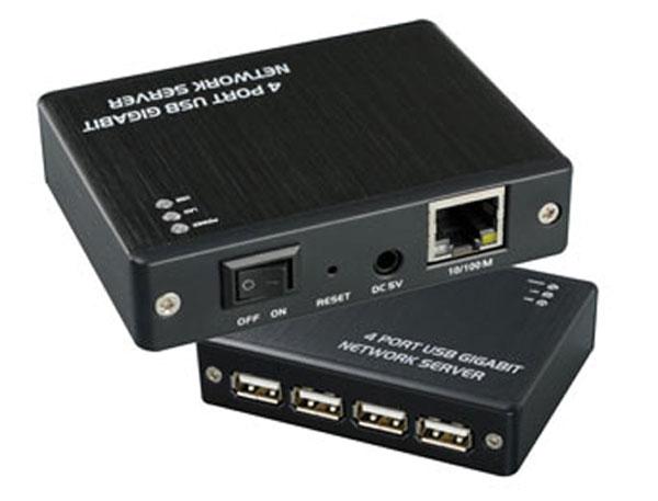 MCL Serveur Gigabit USB2-LAN/4 (4 ports USB 2.0)