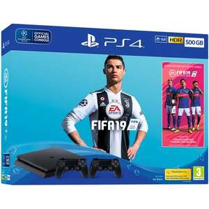Pack Console Sony PS4 500 Go + Fifa 19 + 2ème manettes