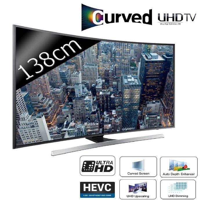 """TV incurvé 55"""" Samsung UE55JU7500 - Smart TV - UHD (ODR 150€)"""