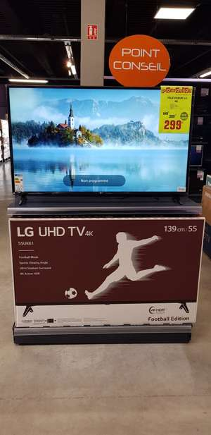 "TV 55"" LG 55UK6100PLB - LCD/LED-TV, 4K, HDR, Smart TV - Langon (33) (expiré)"