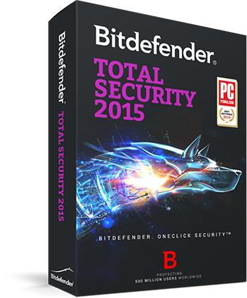Logiciel Antivirus Bitdefender Total Security 2015 - Licence 6 mois gratuite