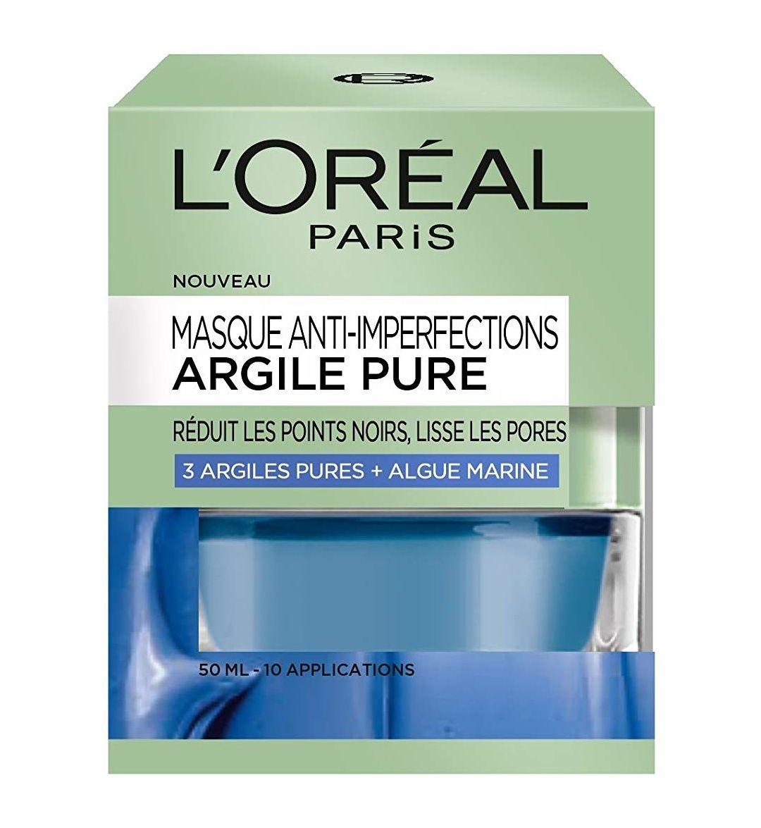 Masque anti-imperfections argile pure de L'Oréal