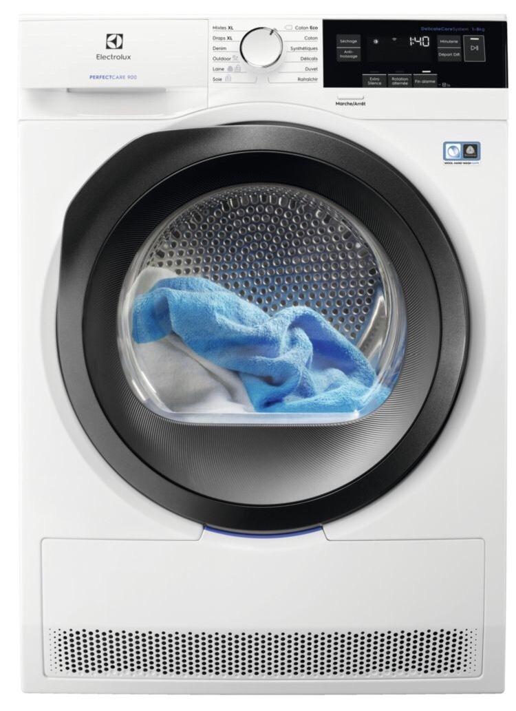Sèche linge Electrolux EW9H3825RA - Blanc, 8Kg (Via 100 d'ODR)