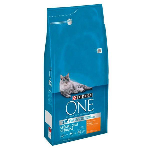 [Carte fidélité] Croquettes Purina One pour chats stérilisés - 6 kg