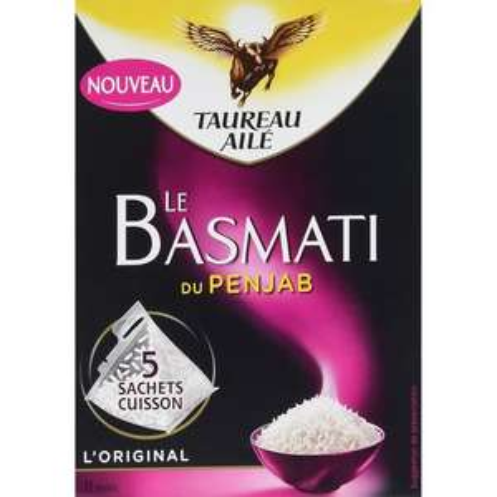 Paquet de riz basmati Taureau Ailé 450 g (via 1€ sur la carte + BDR)
