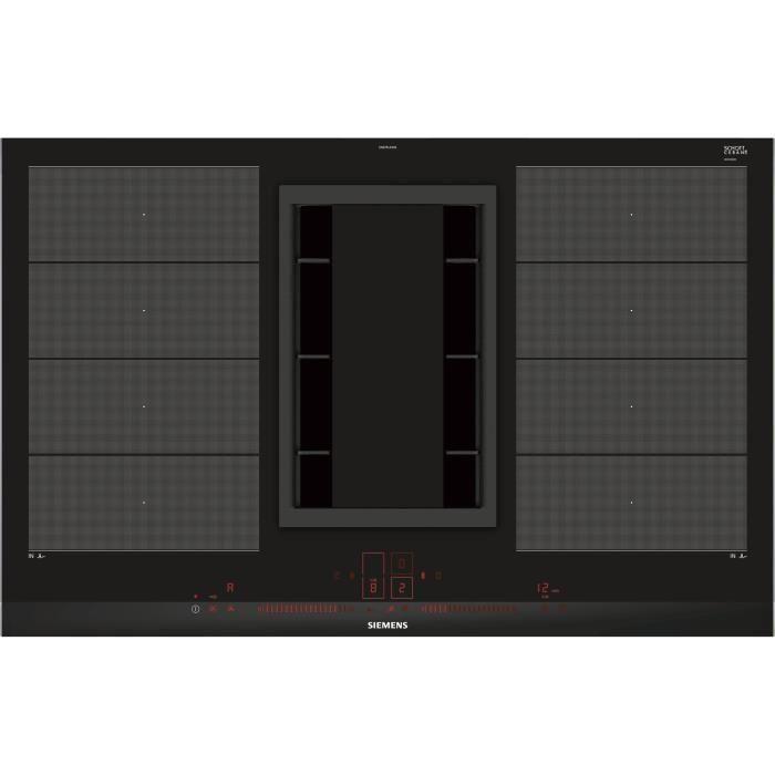 Plaque à induction avec hotte intégrée Siemens EX875LX34E (7400W max)