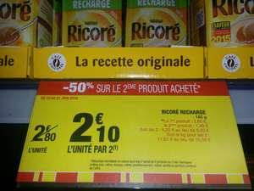 Lot de 2 Recharges de Ricoré (BDR 0.70€)