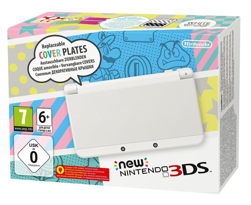 Console Nintendo New 3DS Blanche ou Noire (16€ sur la carte fidélité)