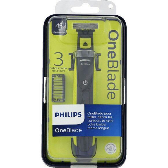Rasoir électrique Philips OneBlade (avec 3 sabots)