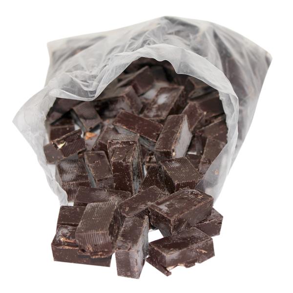 Sachet de chutes de nougat de Montélimar tendre enrobé de chocolat lait-orange - 1 Kg (nougat-chabert-guillot.com)
