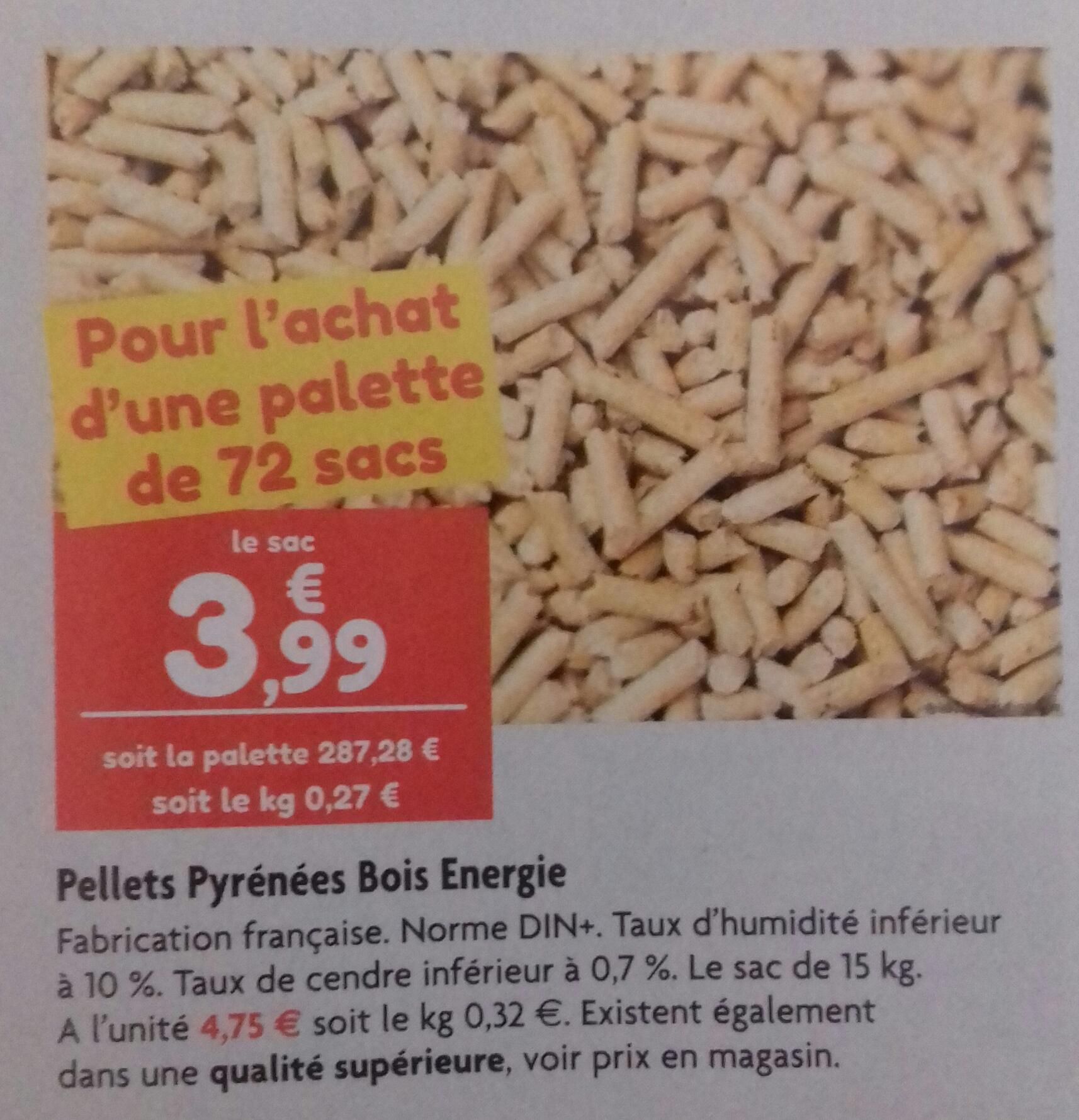 1 palette de 72 Sacs de pellets (15 kg)  - Point Vert