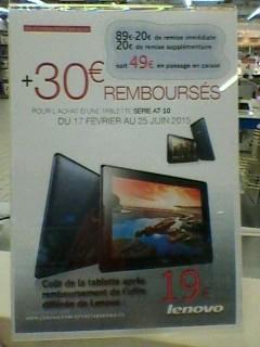 """Tablette 7"""" Lenovo A7-10 (avec ODR 30€)"""