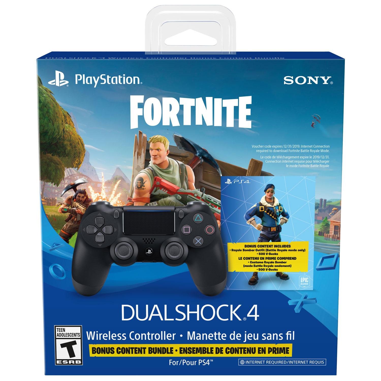 Manette PS4 DualShock 4 + Skin Fortnite Royale Bomber