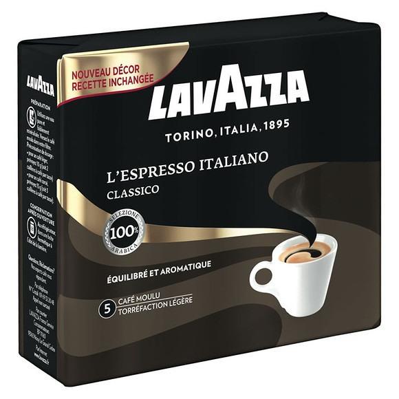 3 Lots de Café Moulu Lavazza L'Espresso Italiano (Variétés au choix) - 6 x 250g (Via Shopmium)