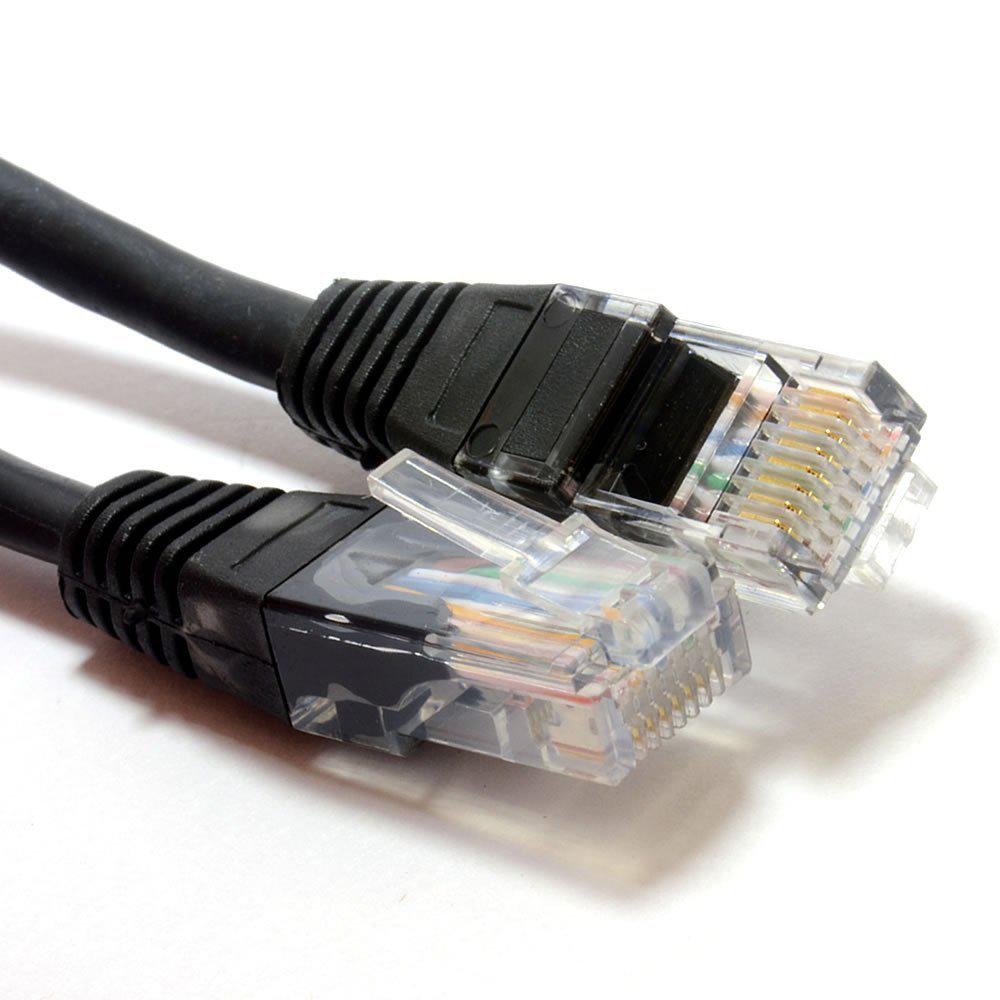 Câble Réseau Ethernet RJ45 CAT5e CCA UTP Patch 26AWG  - 1m - Noir