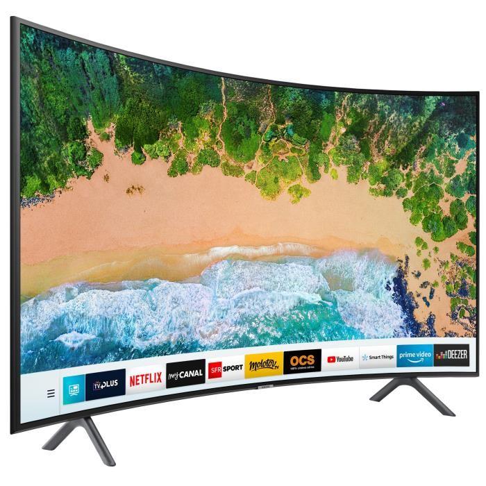 "TV 55"" Samsung UE55NU7372KXXC - LED, 4K UHD, HDR, Incurvé, Smart TV"