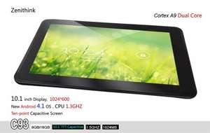 Tablette 10.1'' Zenithink Dual Core 1.5Ghz Android 4.1
