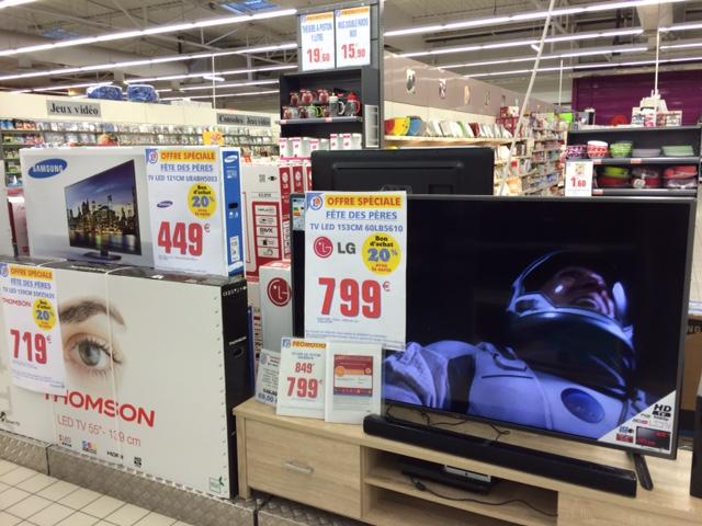 20% en bon d'achat sur une selection d'articles au rayon TV