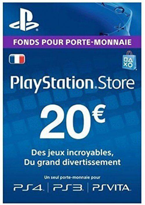 Carte PlayStation Network de 20€ (Dématérialisée)