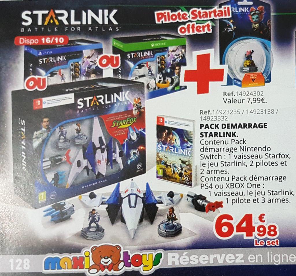 [Précommande] Starlink Starter Pack sur PS4 / Xbox One ou Nintendo Switch + Pilote Startail offert