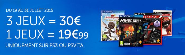 3 Jeux PS3 ou Ps Vita parmi une sélection