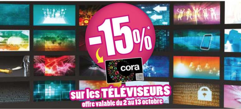 [Adhérents] 15% crédités sur la carte de fidélité sur une sélection de téléviseurs (Frontaliers Luxembourg - Foetz)