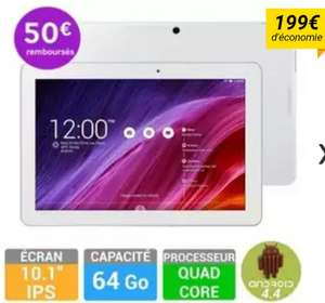 "Tablette 10"" Asus MeMO Pad ME103k-1B002a 64 Go"