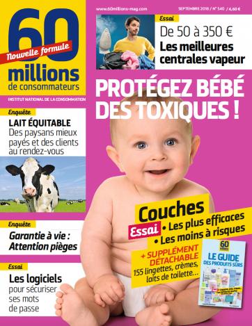 Magazine Numéro spécial 60 milions de consommateurs n°540 : Protégez bébé des toxiques !