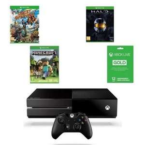 Console Xbox One + Halo Masterchief Collection + Sunset Overdrive + Minecraft + Xbox Live 12mois