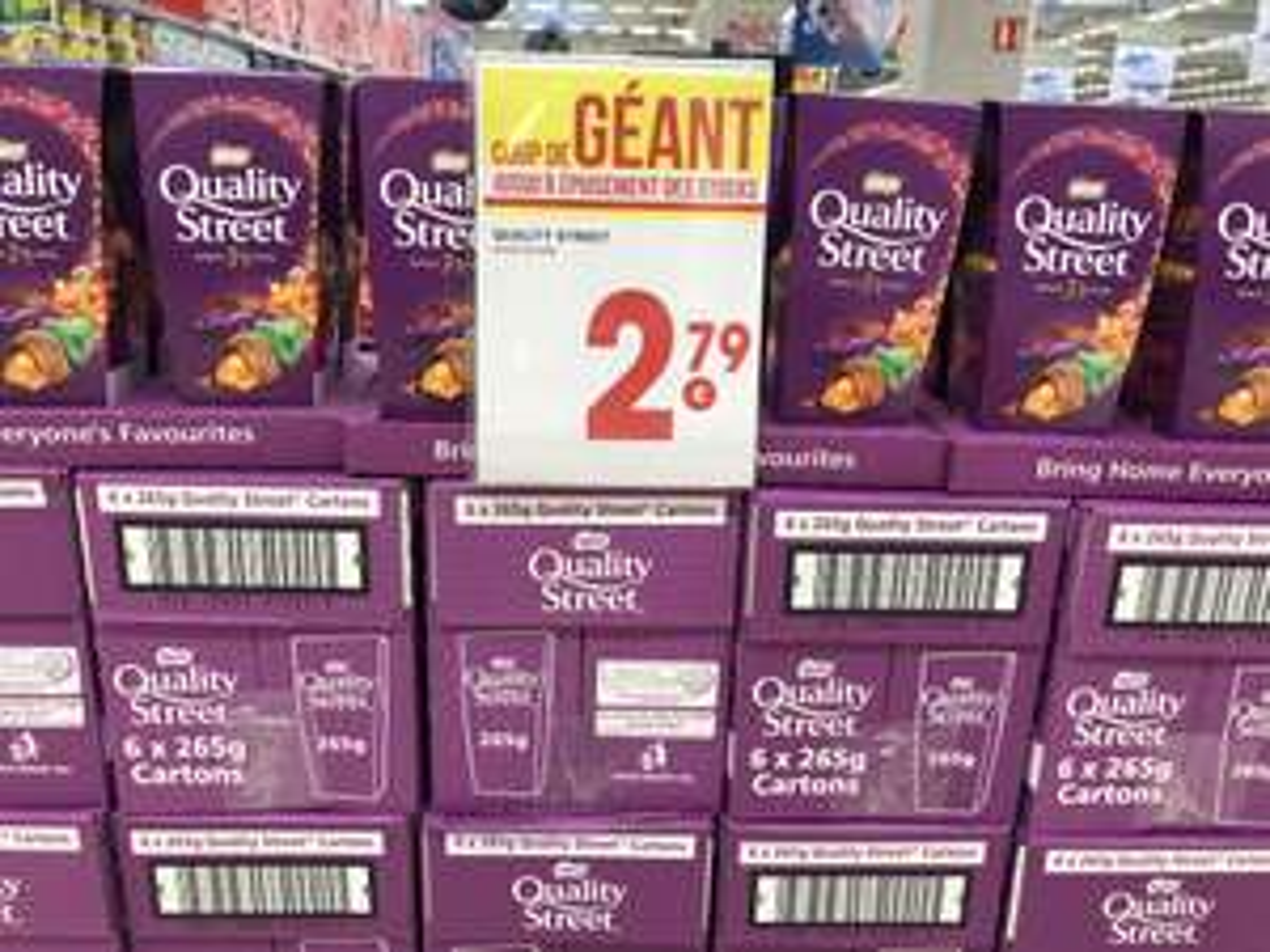 Boîte de chocolats Quality Street (265g) - Saint Gregoire (35)