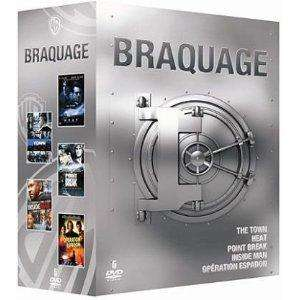 Braquage - Coffret DVD - The Town + Heat + Point Break + Inside Man + Opération Espadon