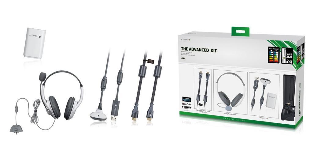 Kit de 4 accessoires Playfect Advanced pour Xbox 360