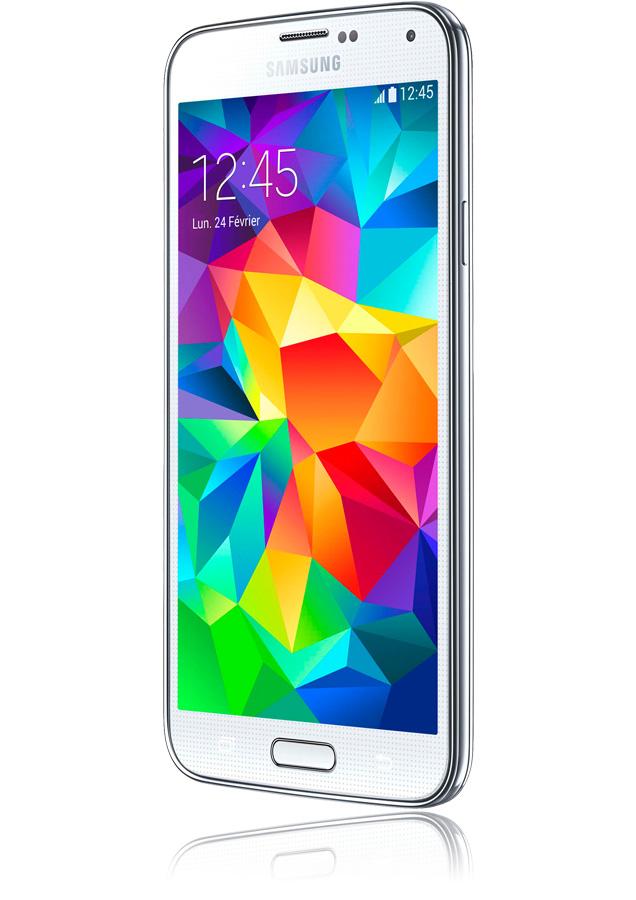 """Smartphone 5.1"""" Samsung Galaxy S5 Blanc 16 Go (Neuf, dépackagé)"""